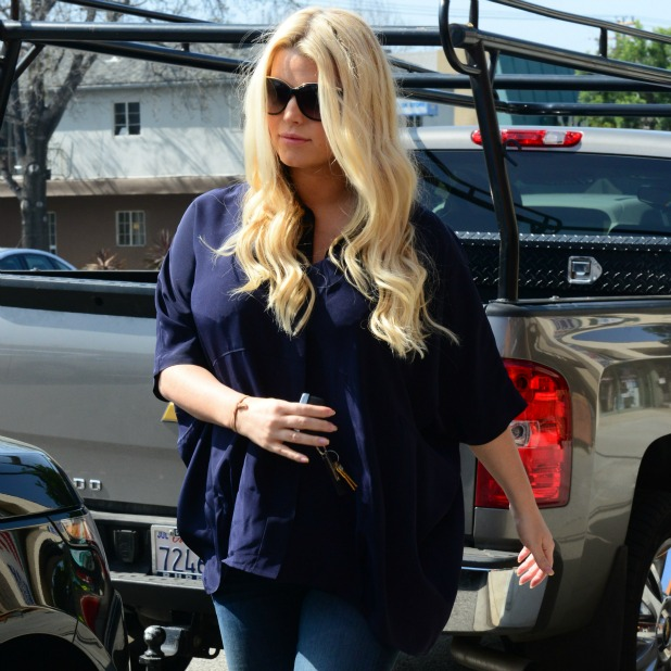 Jessica Simpson and Ashlee Simpson out and about, Los Angeles, America - 16 Mar 2013