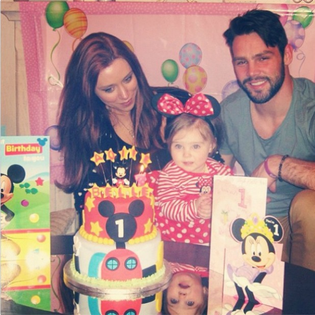 Una Healy and Ben Foden celebrate Aoife Belle's first birthday