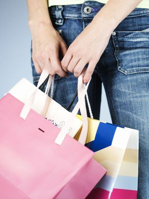 generic woman with shopping bags