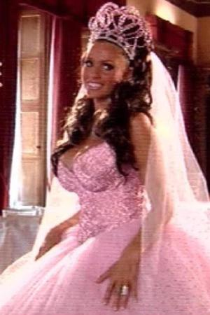 Katie Price on her wedding day to Peter Andre in 2005