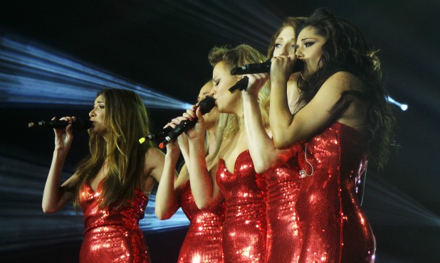 Girls Aloud performing on the final night of their TEN tour