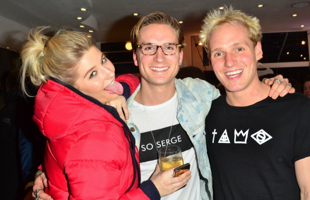 Made In Chelsea's Jamie laing, Oliver Proudlock and Phoebe-Lettice Thompson