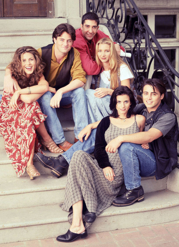 The cast of Friends in a publicity photo