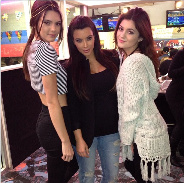 Kourtney Kardashian celebrates her birthday bowling with Kendall and Kylie Jenner