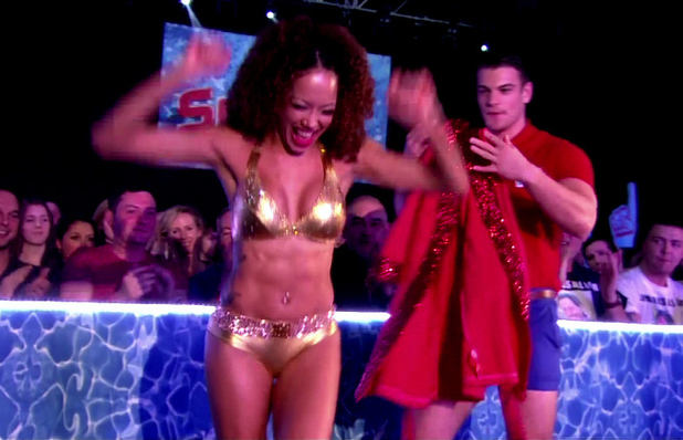 Tom Daley's celebrity diving show 'Splash!'. Shown on ITV 1 HD Featuring: Jade Ewen When: 07 Jan 2013