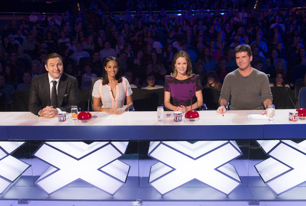 Britain's Got Talent, David Walliams, Aleesha Dixon, Amanda Holden, Simon Cowell, generic desk shot