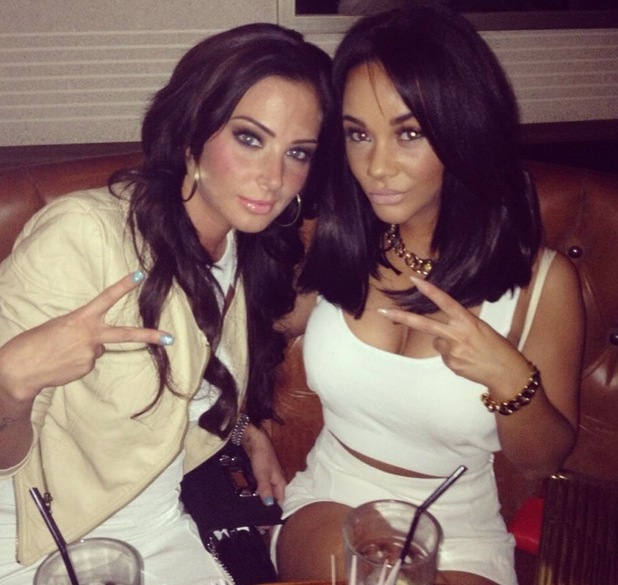 Chelsee Healey and Tulisa Contostavlos on a night out together - 20 April 2013