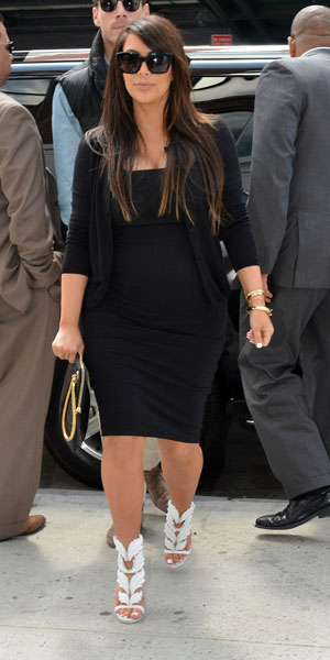 Kim Kardashian Heels Pregnant Kim kardashian in new york on
