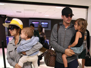 Celebrities arriving at LAX airport on an international flight Featuring: Kourtney Kardashian,Scott Disick,Penelope Scotland Disick,Mason Dash Disick Where: Los Angeles, CA, United States When: 01 May 2013 Credit: STS/WENN.com