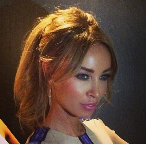 Lauren Pope shows off her fake ponytail, created with a piece from her Hair Rehab London range, Instagram, 8th May 2013
