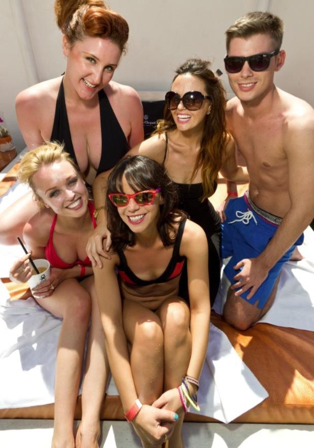 Jessica Fox, Jorgie Porter, Jennifer Metcalfe in Ibiza - 7 May 2013