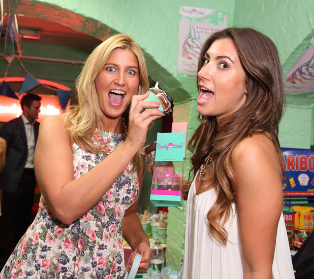 Cheska Hull, Gabriella Ellis enjoying the Blue Cross Tea Party at Candy Cakes, Covent Garden. - May 8 2013