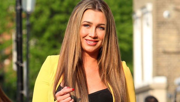 Lauren Goodger walking in London, 7 May 2013