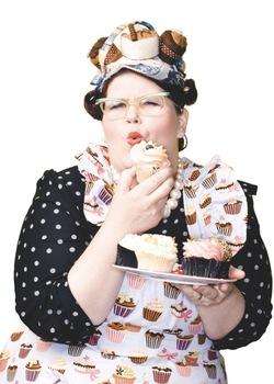 Ms Cupcake publicity portrait for Vegan cookbook