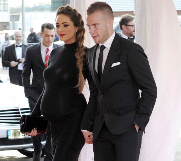 Georgina Dorsett and Tom Cleverley at the Manchester United Player of the Year Awards at Old Trafford, 15 May 2013