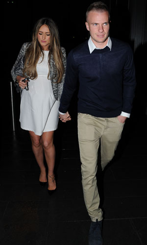 Georgina Dorsett and Tom Cleverley at Neighbourhood restaurant in Manchester to celebrate Manchester United's season, 12 May 2013
