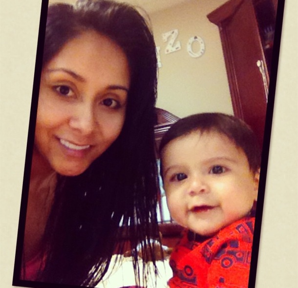 Nicole Snooki Polizzi wearing no make-up with son, Lorenzo, Twitter, 14th May 2013