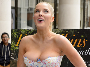 Helen Flanagan squeezes into corset to launch PETA campaign