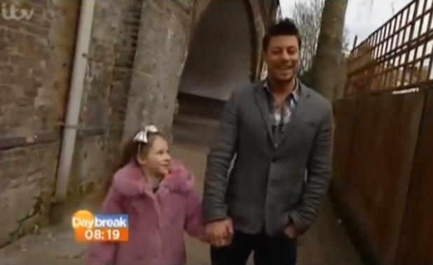 Duncan James and daughter Tianie-Finn appear on Daybreak - April 2013