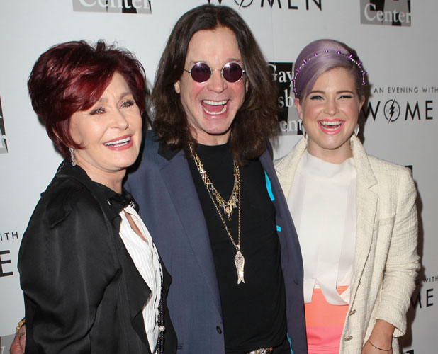 Ozzy, Sharon and Kelly Osbourne attend The L.A. Gay and Lesbian Center's 'An Evening With Women' event held at the Beverly Hilton Hotel - Arrivals, 18 May 2013