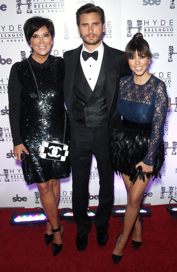 Kourtney Kardashian and Kris Jenner help Scott Disick turn 30 with 'Lord Disick-Style' birthday bash at Hyde Bellagio, Las Vegas, Nevada, United States