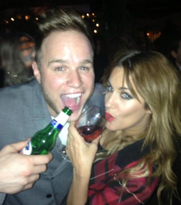 Olly Murs and Caroline Flack at Dermot O'Leary's birthday bash