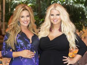 Jessica Simpson and CaCee Cobb at CaCee's baby shower - June 2013