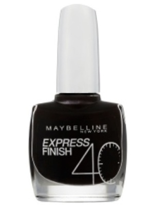 Maybelline Express Finish Nail Polish in Onyx Black