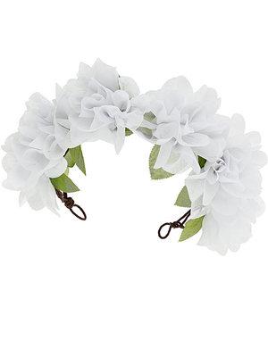 Miss Selfridge large floral white headband