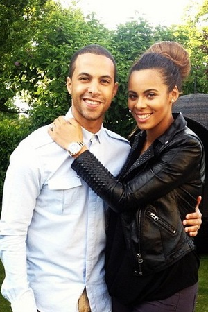 Rochelle and Marvin Humes' first night out since the birth of Alaia-Mai, 3 June 2013