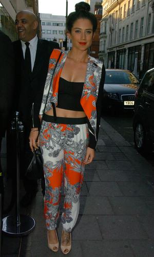 Celebrities are seen arriving to Retro Feast pop-up restaurant - Katie Waissel - 5 June 2013