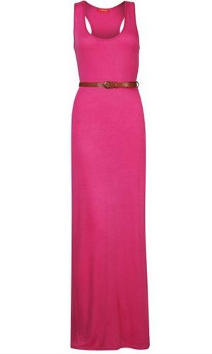 Reveal shop hot pink maxi dress