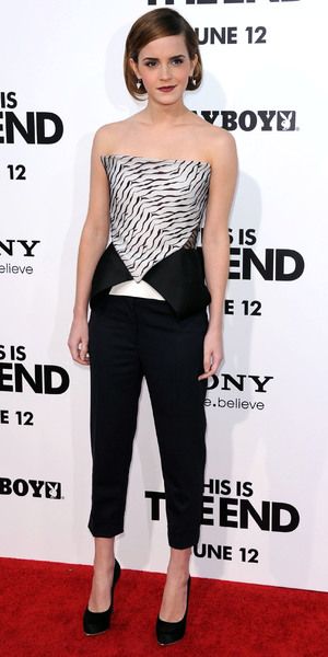 Emma Watson Los Angeles premiere of 'This Is The End' held at the Regency Village Theatre - Arrivals