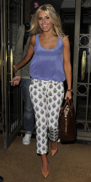 Mollie King The Saturdays leave their hotel after the Glamour Women of the Year Awards 2013