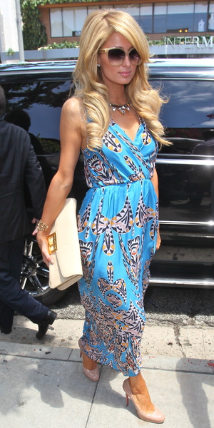 Paris Hilton seen arriving at the Ivy restaurant for lunch