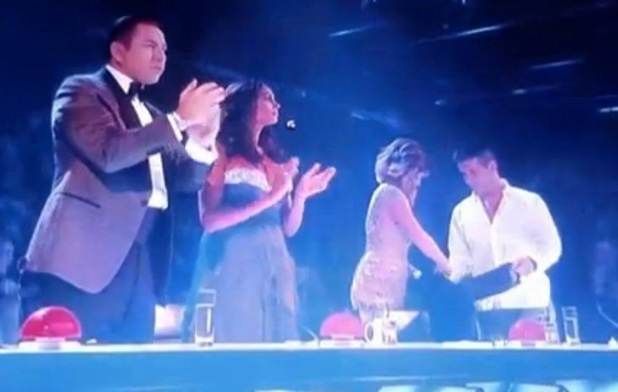 Woman throws eggs, 'Britain's Got Talent' Final TV Programme, London, Britain. - 08 Jun 2013