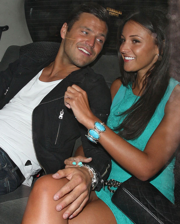 Michelle Keegan celebrates her birthday with Mark Wright at Nobu Berkeley, 4 June 2013