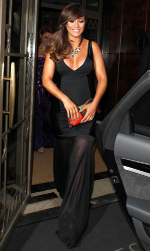 Frankie Sandford leaving a London hotel after the Glamour Women of the Year Awards, 4 June 2013