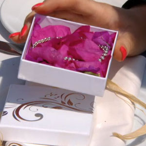 Jessica Wright's anniversary bracelet in The Only Way Is Marbs, 5 June 2013