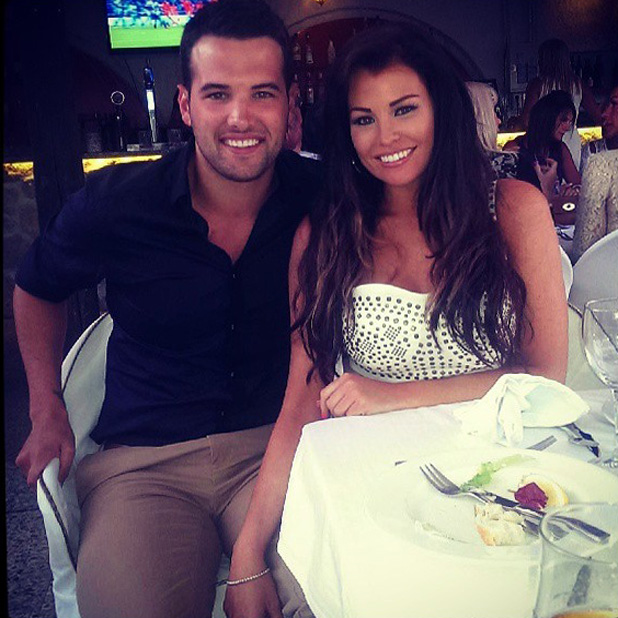 Jessica wright and ricky rayment enjoy dinner while on holiday in