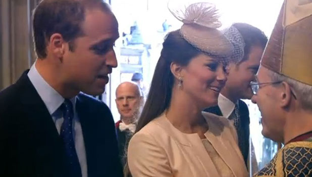 Kate Middleton and Prince William at the 60th anniversary of the Queen's Coronation, 4 June 2013