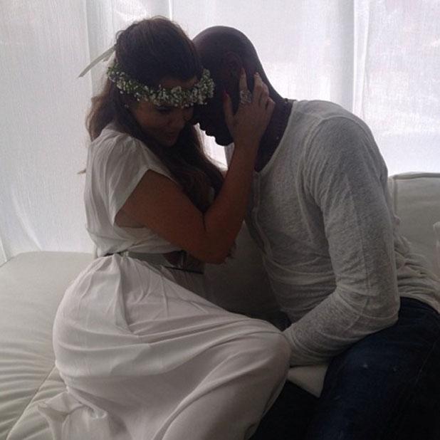 Khloe Kardashian and Lamar Odom at Kim's baby shower, 2 June 2013