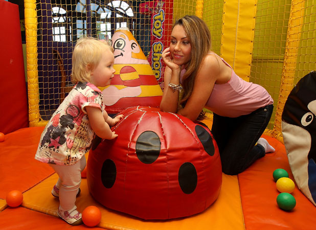 Michelle Heaton ambassador of Fayre & Square and Wacky Warehouse's Little Heroes competition - daughter Faith