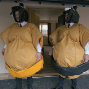 The Apprentice - sumo wrestling suits. Episode 6 preview