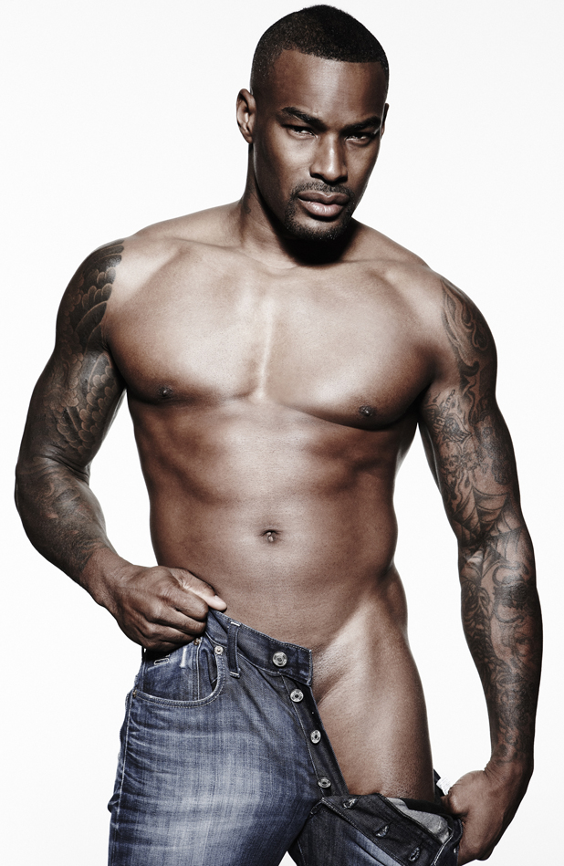 Tyson Beckford posed for Cosmopolitan to raise awareness of male cancer for Cancer Research UK - July 2013 issue