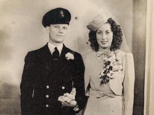 Ron and Eileen on their wedding day
