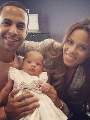 Rochelle, Marvin and Alaia-Mai Humes - first family picture - 11 June 2013