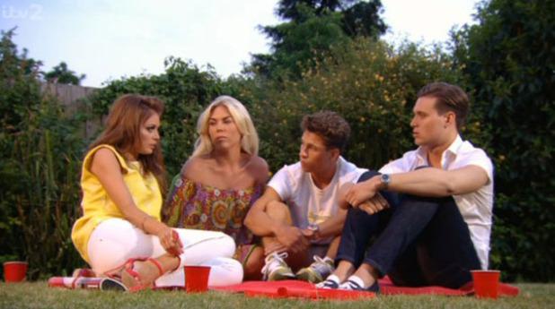 TOWIE: Joey Essex, Frankie Essex and Chloe Sims on 9 June 2013