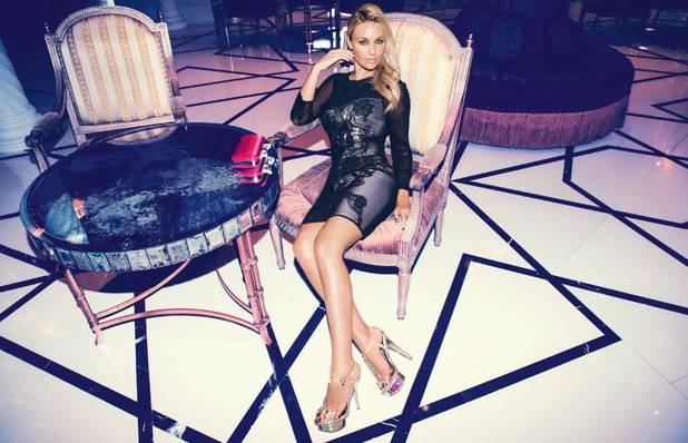 Alex Gerrard models LIpsy VIP new collection