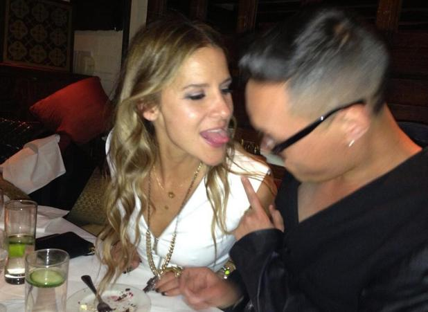 Amanda Byran and Gok Wan at Maggie's nightclub, London - 9 June 2013